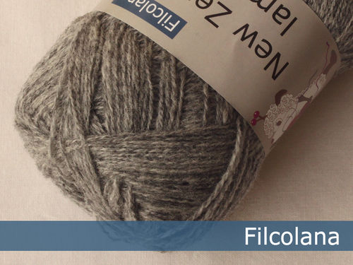 SAGA // New Zealand lammeuld #951 Light Grey (melange)